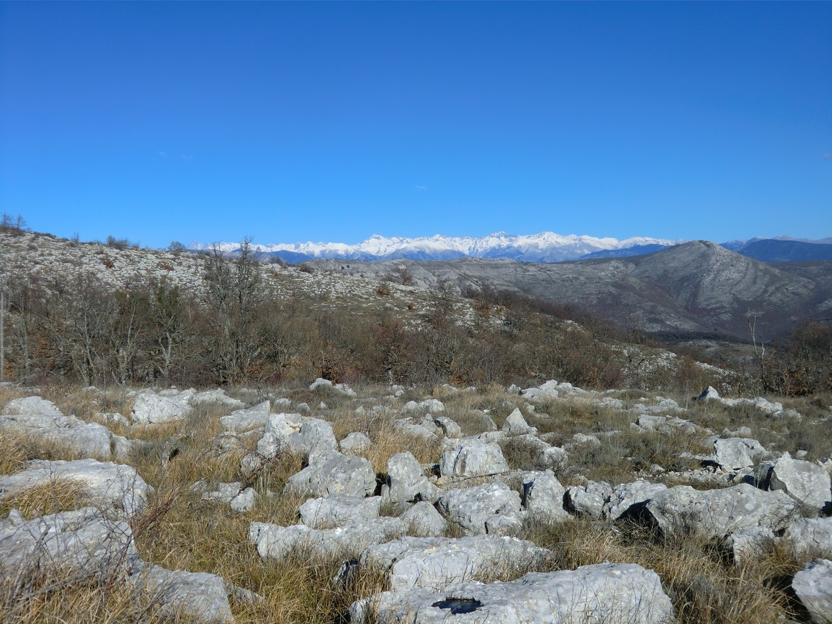 Mercantour mountains seen from Col de Vence