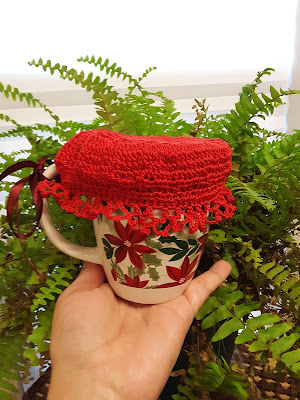 Holiday Crochet Cup Cover