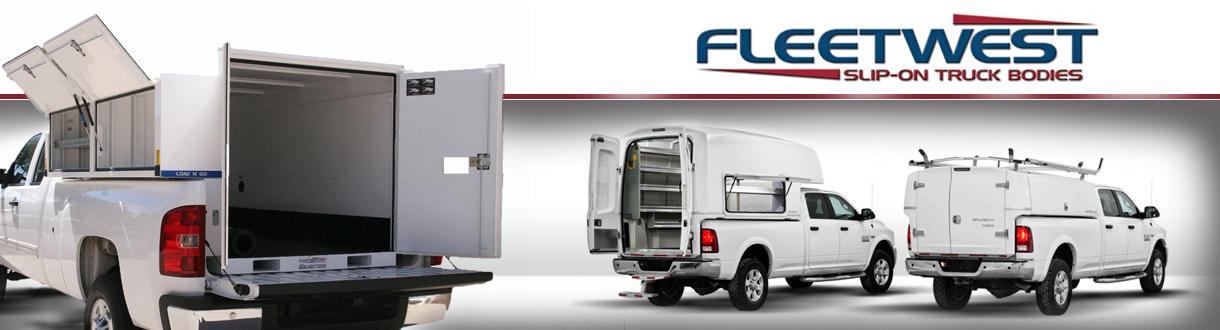 Transferable Slip-On Work Truck Bodies For Standard Pickup Trucks