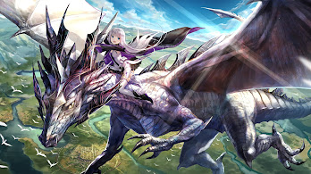 Fantasy, Dragon, Girl, Riding, Anime, 4K, #137