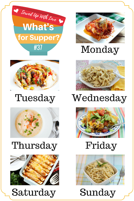 Whats for Supper Sunday meal plan at Served Up With Love will make supper time a breeze this week. Recipes included this week are Southwestern Chicken Pizza Rolls, Crock Pot Chicken and Noodles, Taco Pie, and so much more.