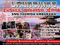 Desain Banner Launching Ekskul Bahasa Jepang SMK Yasmida