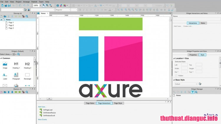 Download Axure RP 8.1.0.3379 Full Cr@ck – Phần mềm thiết kế Website