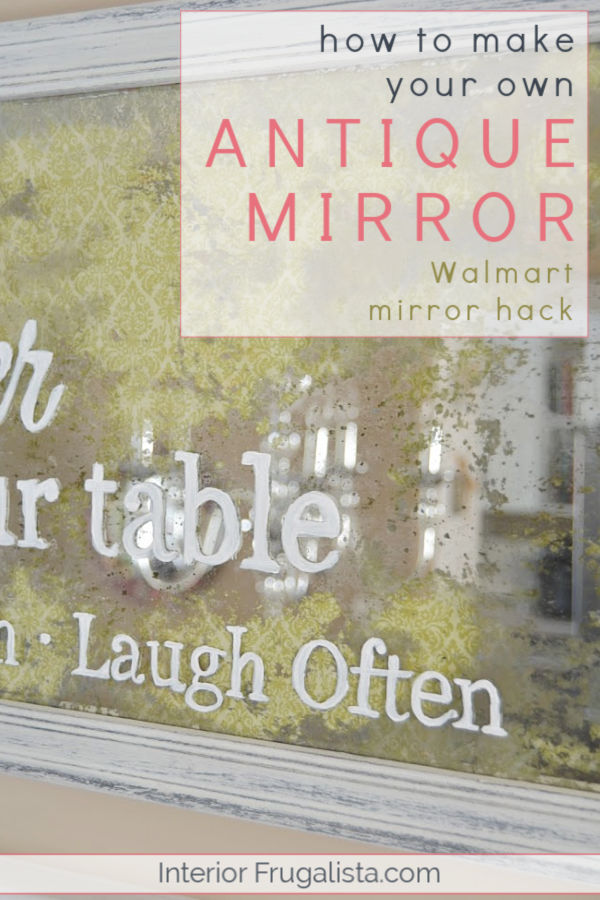 How To Make Your Own Antique Mirror