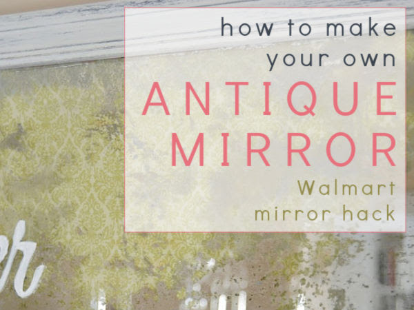 How To Make An Inexpensive Mirror Look Antique