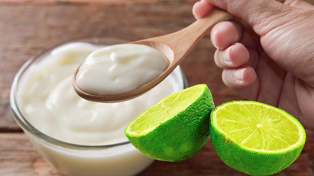 Limon y yogurt para la caspa