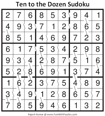 Answer of Ten to the Dozen Sudoku Puzzle (Fun With Sudoku #344)