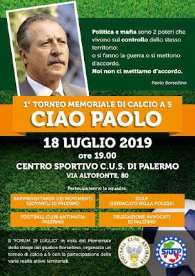 """1° Torneo Memoriale di calcio a 5 """"Ciao Paolo"""""""