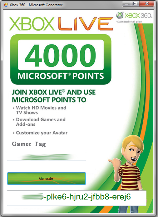 xbox 360 codes for microsoft points for free