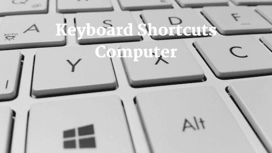 Keyboard Shortcut Keys for pc