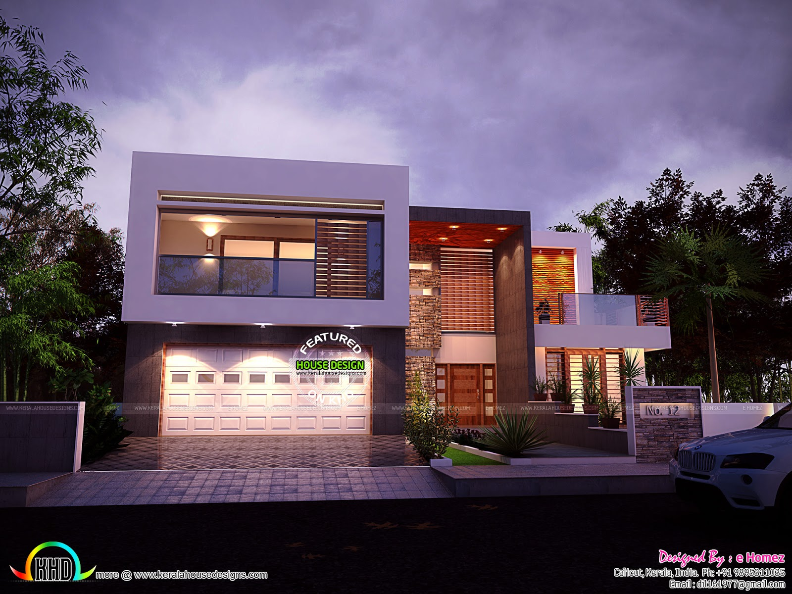 4 BHK Modern Contemporary Home