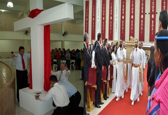 Cruz e a Arca da Aliança da Igreja Universal do Reino de Deus