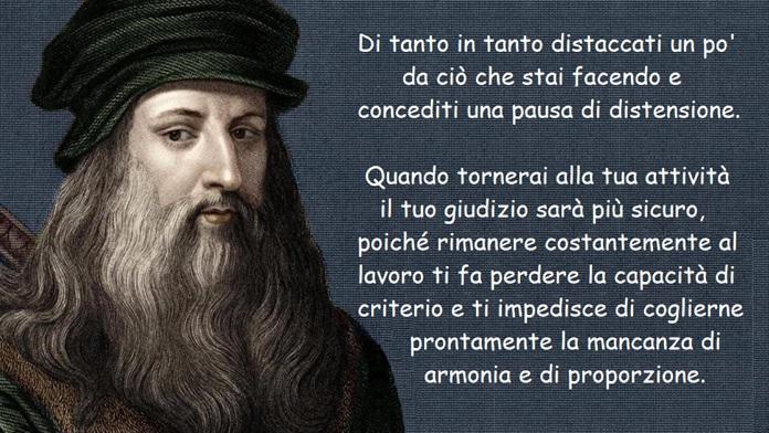 Il lavoro visto da Leonardo da Vinci