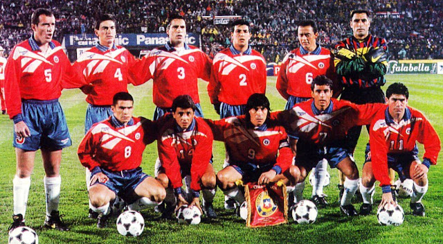Formación de Chile ante Ecuador, Clasificatorias Francia 1998, 6 de julio de 1996