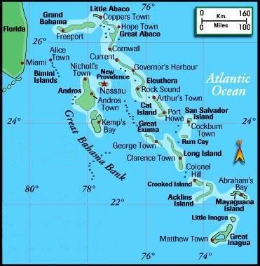 Bahamas | Mapas Geográficos das Bahamas