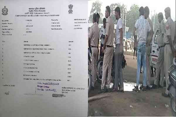 faridabad-police-41-hajar-challan-bullet-driver-in-ballabhgarh
