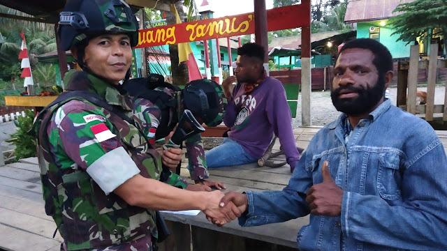 Satgas Raider 300 Tingkatkan Keamanan Serta Cegah Kriminalitas Di Papua