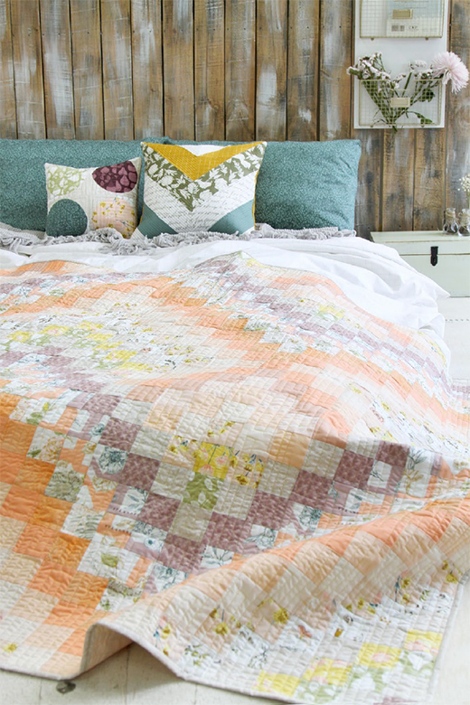Beauty Sheen Quilt designed by Bonnie Christine for Live art gallery fabrics, featuring Gathered Collection