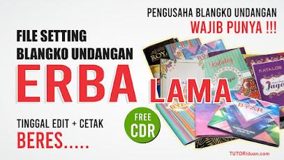 Settingan Blangko Undangan ERBA Lama CDR
