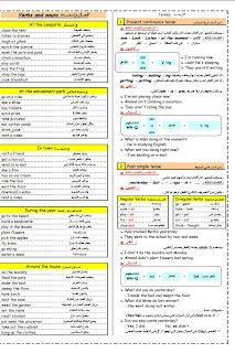 خلاصة اللغة الانجليزية للصف الخامس الترم الاول فى 3 ورقات