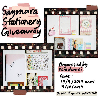 Sayonara Stationery Giveaway by NiniHanini, Blogger, Blog, Hadiah, Blogger Giveaway,