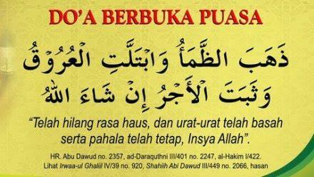 Doa Buka Puasa Risalah Islam
