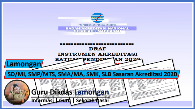 Lamongan | SD/MI, SMP/MTS, SMA/MA, SMK, SLB Sasaran Akreditasi 2020