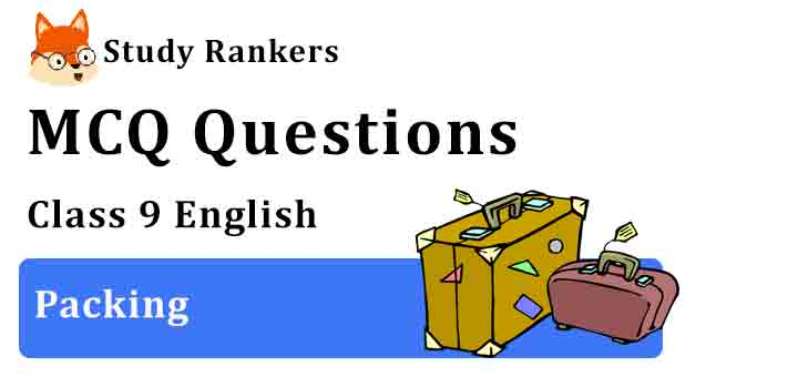 MCQ Questions for Class 9 English Chapter 7 Packing Beehive