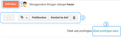 Hasan Askari: Tutorial Blogger Lengkap Menggunakan HP - #5 Mengenal fitur pada menu Postingan gambar 3