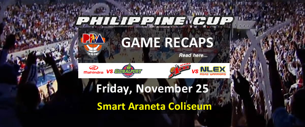 List of PBA Game(s) Friday November 25, 2016 @ Smart Araneta Coliseum