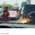 Can lightening strike twice? See the photo Ciara took in Lagos traffic yesterday