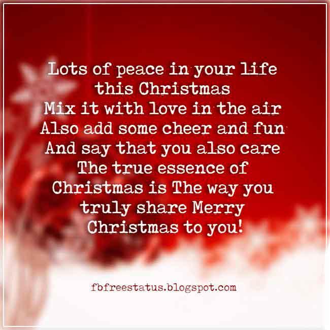 Christmas saying for cards and Christmas greeting