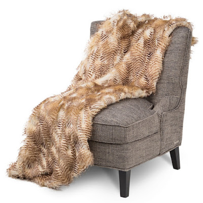 Breckenridge Faux Fur Throw by Michael Amini