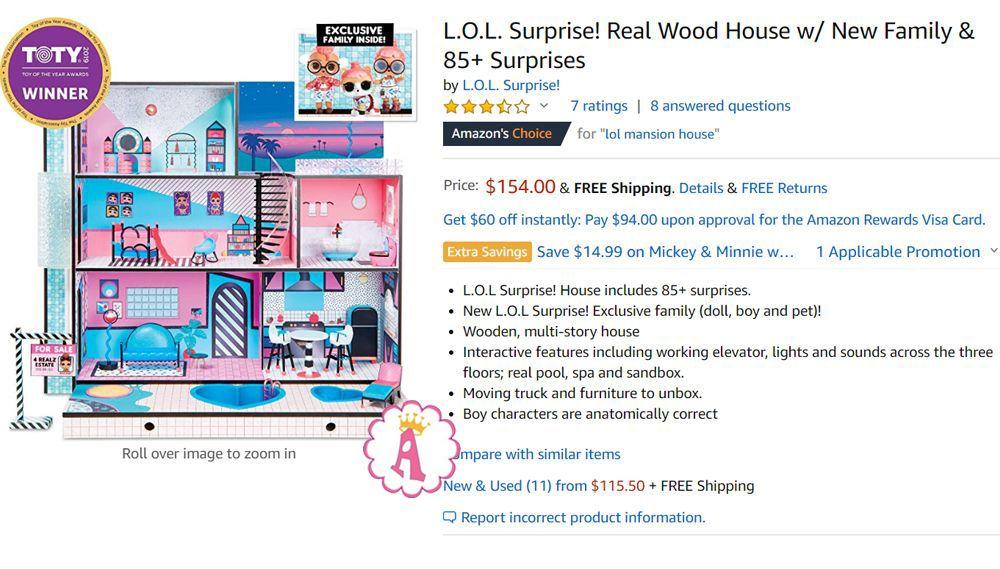 Цена кукольного дома Лол Сюрприз 2019