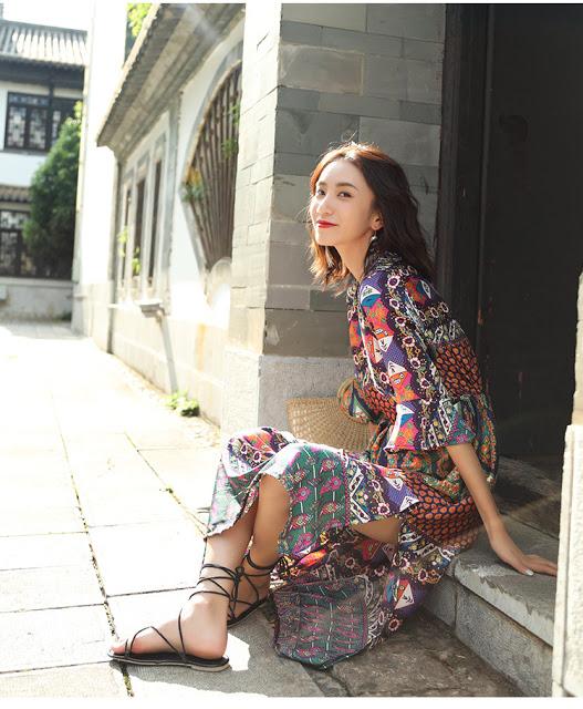 Cua hang ban vay maxi di bien o Quan Thanh