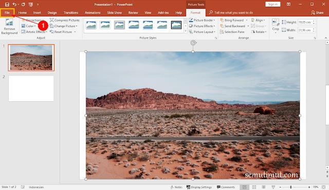 cara memperkecil ukuran file powerpoint