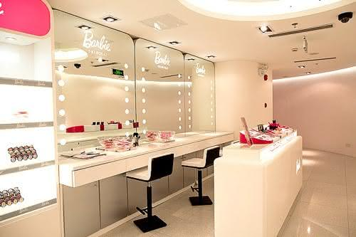 Dressing table with Barbie decoration