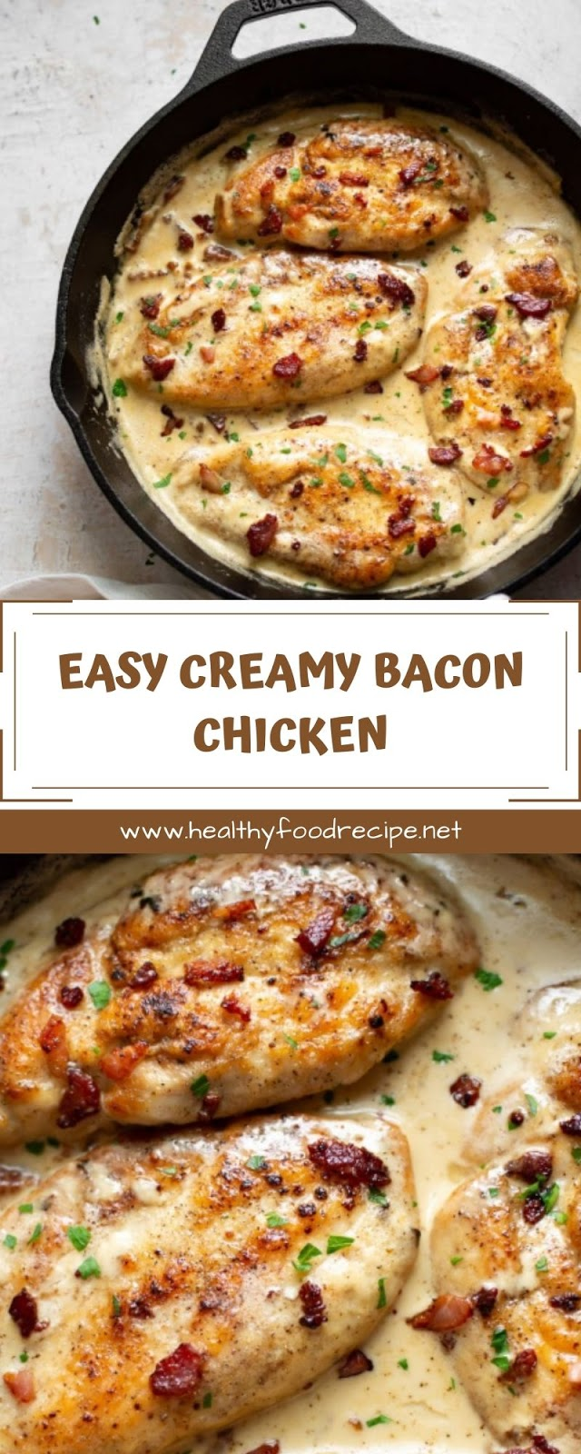 EASY CREAMY BACON CHICKEN