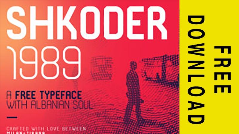Free Download Shkoder 1989 Font