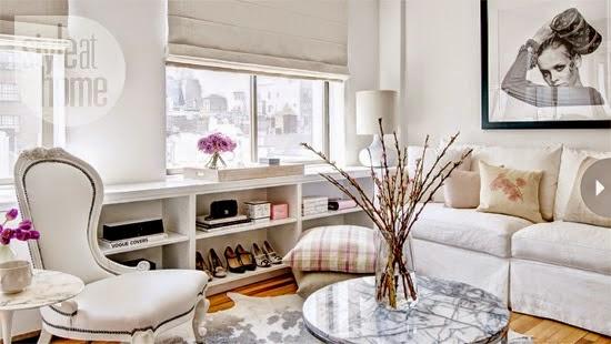 Apartamento 51m² cor de rosa com glamour. Blog Achados de Decoração