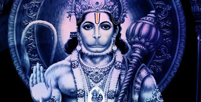 Hanuman, el Dios hindú con cabeza de mono. India