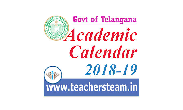 Academic calendar for the Academic year 2018-19