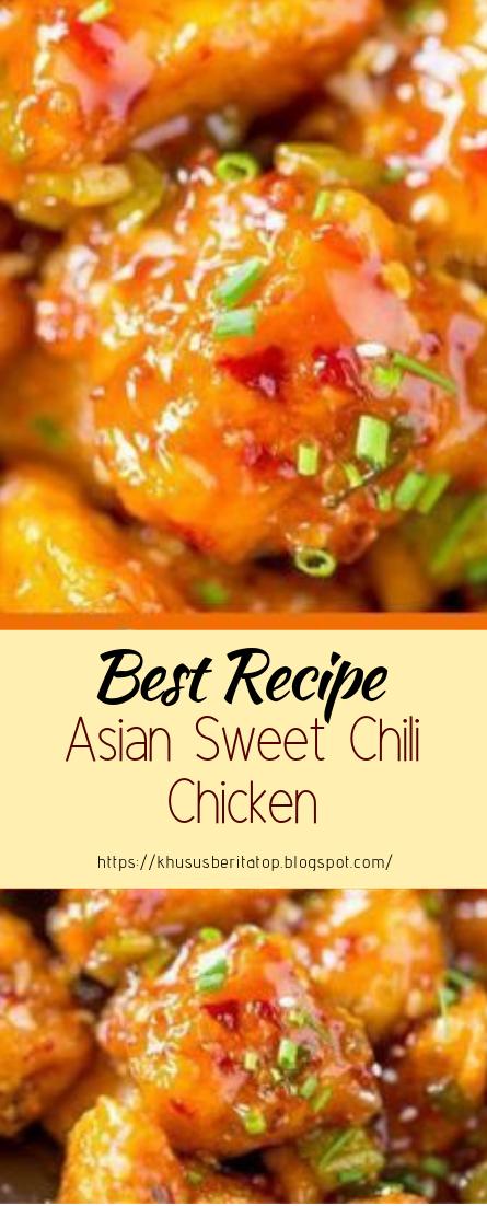 Asian Sweet Chili Chicken #healthyfood #dietketo #breakfast #food