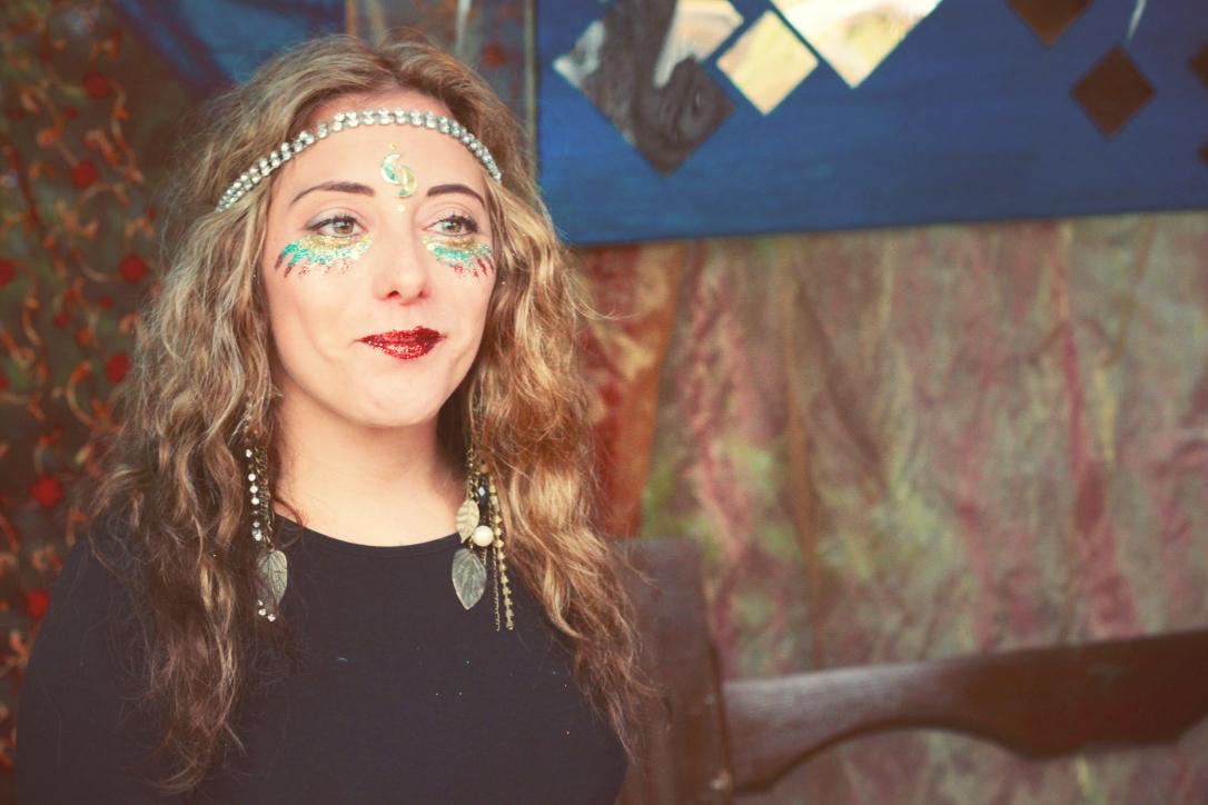 Meadows in the Mountain, Bulgaria, 2015, Rhodope Mountains, Festival, glitter makeup