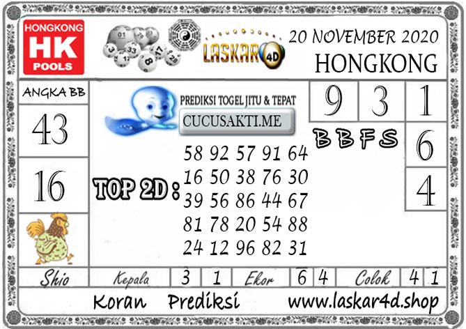 Prediksi Togel HONGKONG LASKAR4D 20 NOVEMBER 2020