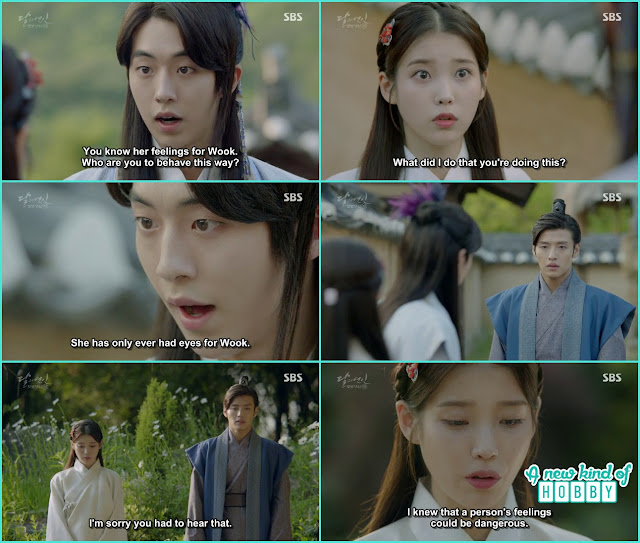 wang wook baek ah scold hae soo that she is ruining myung hee's house hold  - Moon Lovers: Scarlet Heart Ryeo - Episode 5 Review