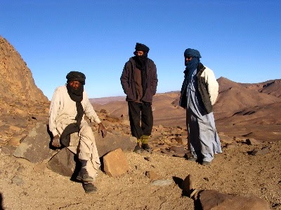 Tuareg nomadic tribesmen in the Sahara and Sahel regions of Africa
