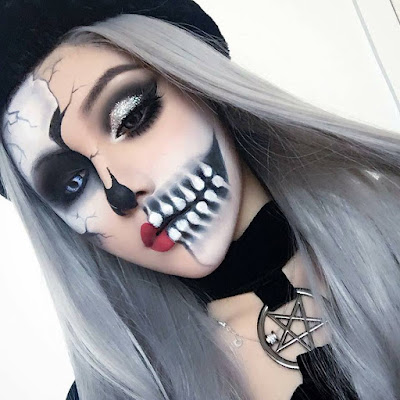 maquillaje calavera mujer