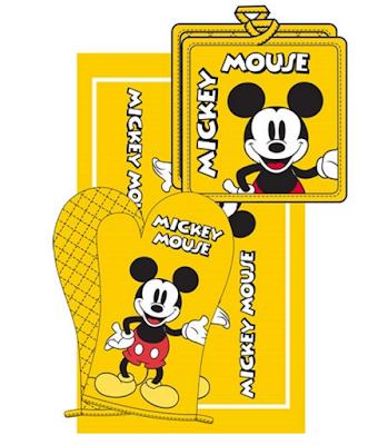 Disney 3pc Kitchen Towel Set Mickey Mouse Yellow