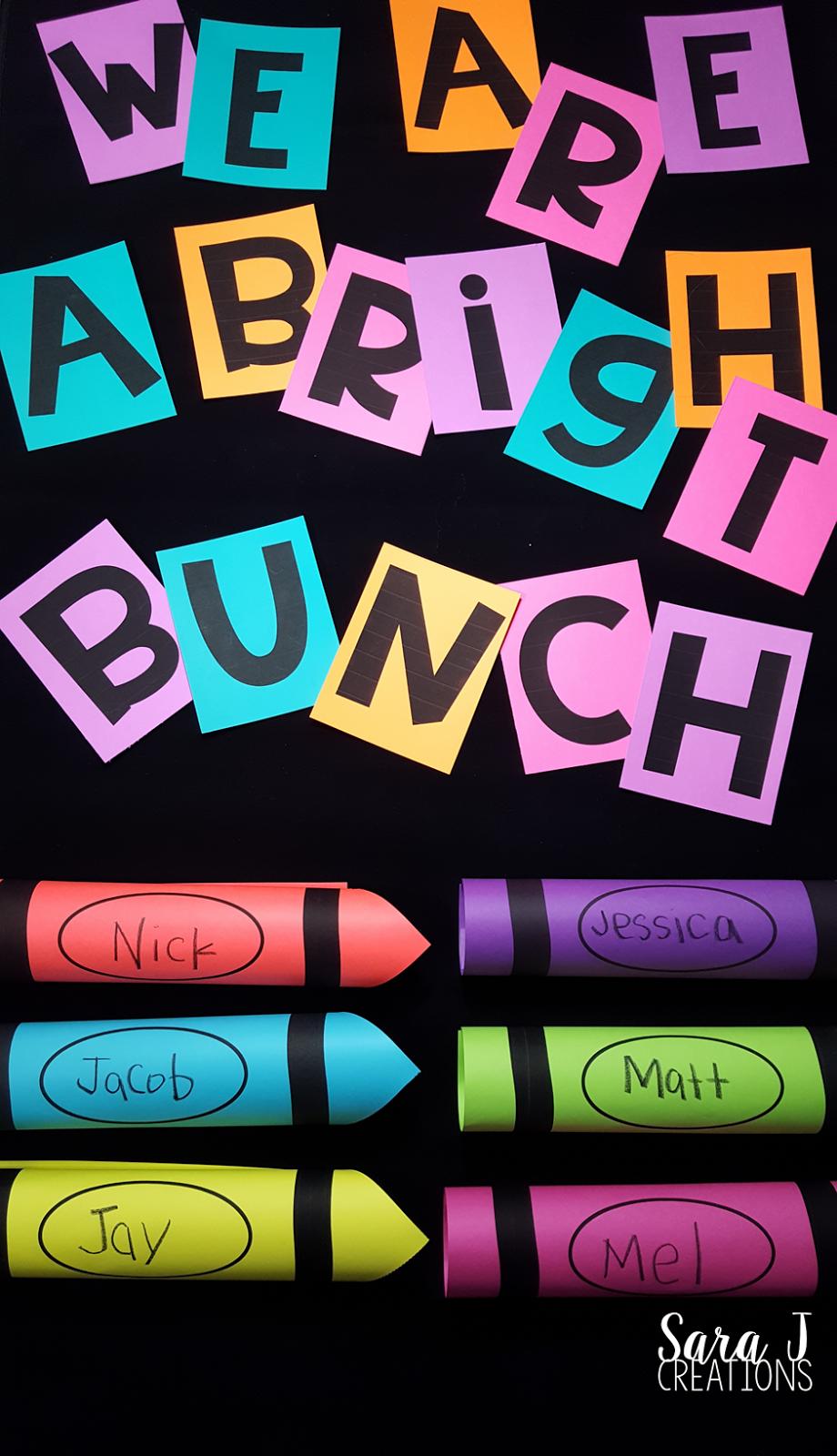 Crayon Bulletin Board - Sara J Creations